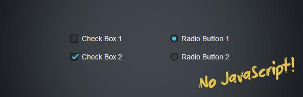 Гарні checkbox та radio кнопки на CSS3 без JavaScript