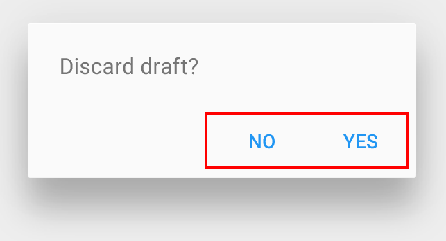 Системне діалогове вікно в Android. Джерело: Material Design.