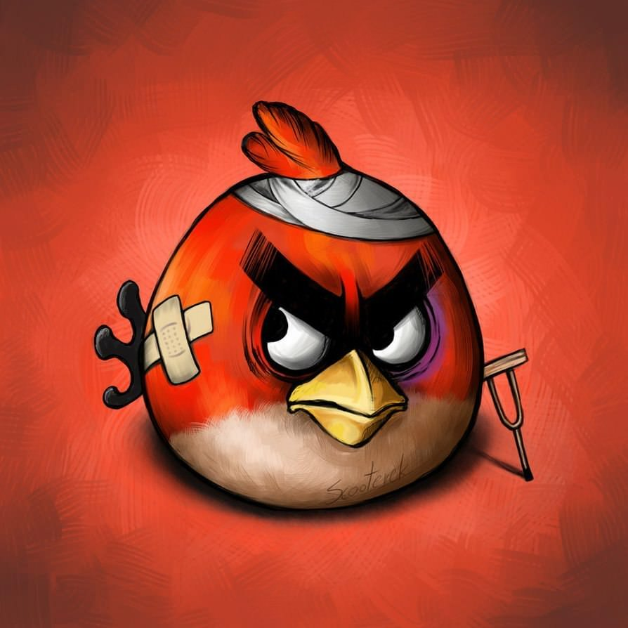 Ілюстрації по мотивам гри «Angry Birds» від Scooterek