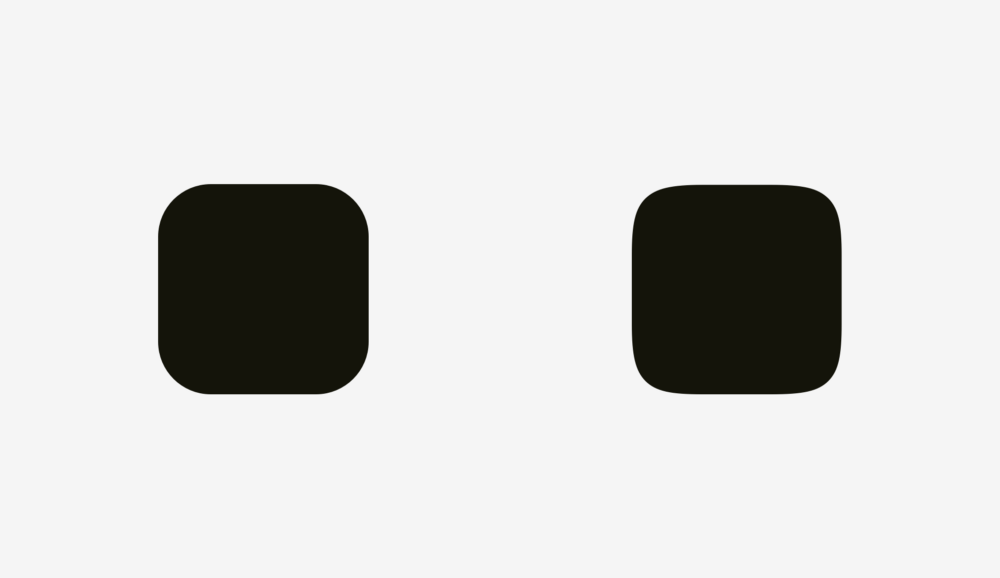 оптичні ілюзії. Скруглення кутів в іконках