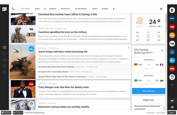 google news redesign