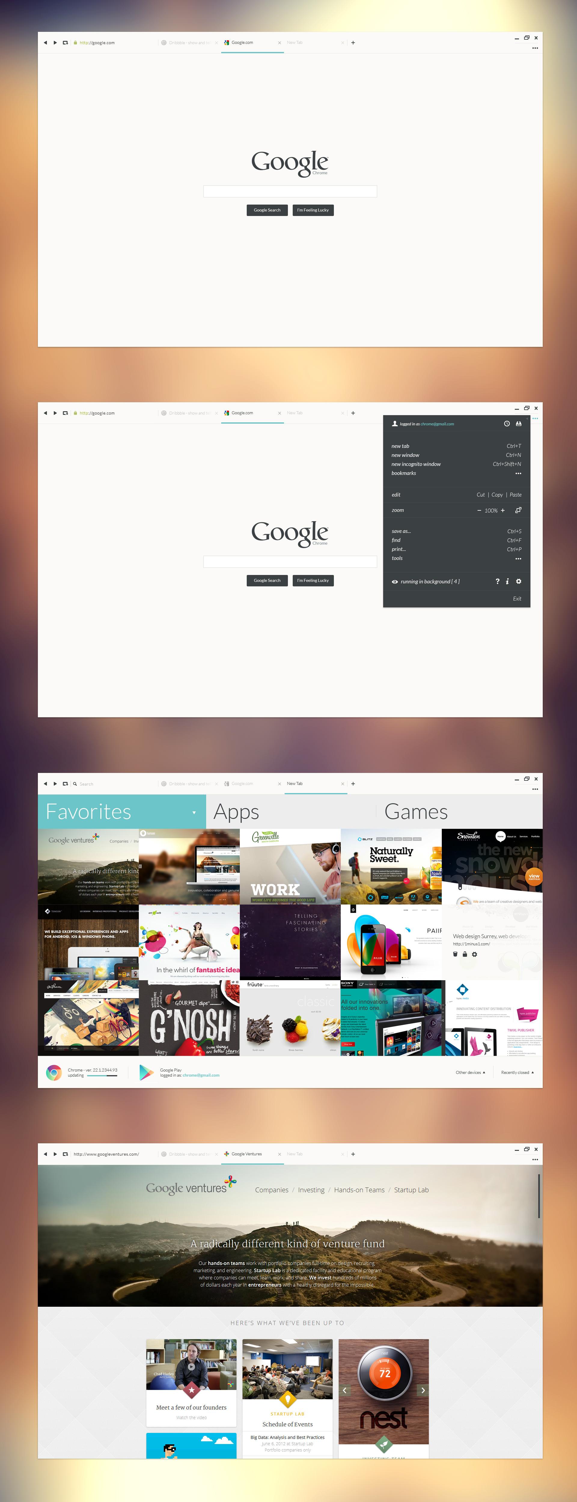 Google Chrome у Metro стилі